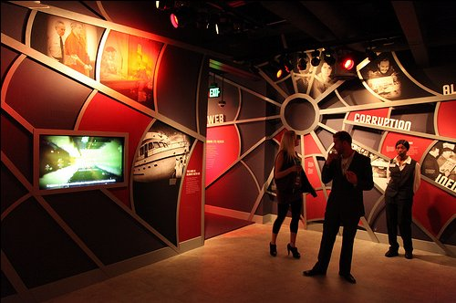 Web of Deceit Room at Mob Museum in Las Vegas